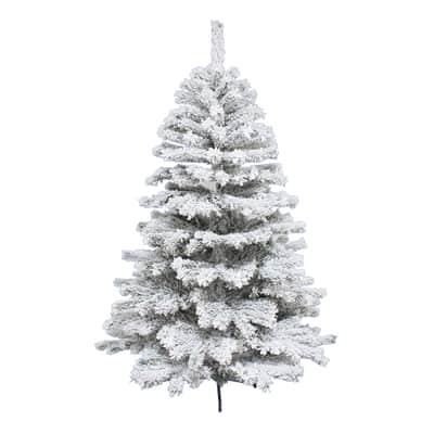 Albero di natale artificiale Super Snow King 240 cm bianco H 240 cm