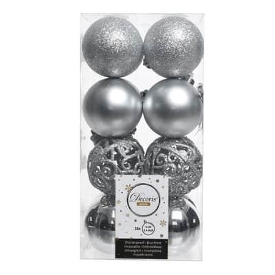 Sfera natalizia in plastica Ø 6 cm confezione da 16 pezzi