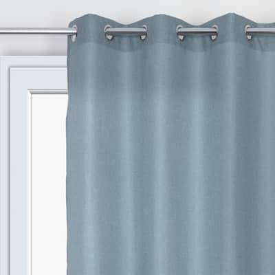 Tenda Chambray blu occhielli 140 x 280 cm
