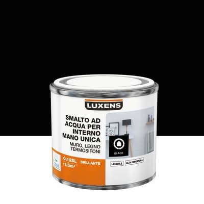 Smalto LUXENS Manounica base acqua nero lucido 0,125 L