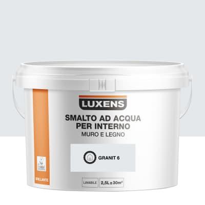 Vernice di finitura LUXENS Bimano base acqua grigio granito 6 lucido 2.5 L
