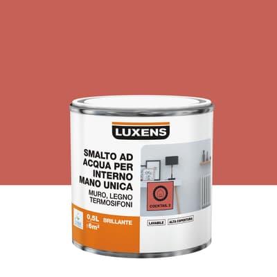 Smalto LUXENS base acqua arancio coktail 2 lucido 0.5 L