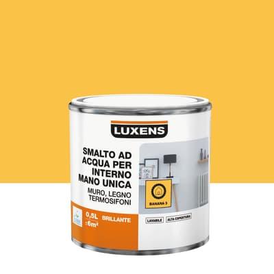 Smalto LUXENS base acqua giallo banana 3 lucido 0.5 L