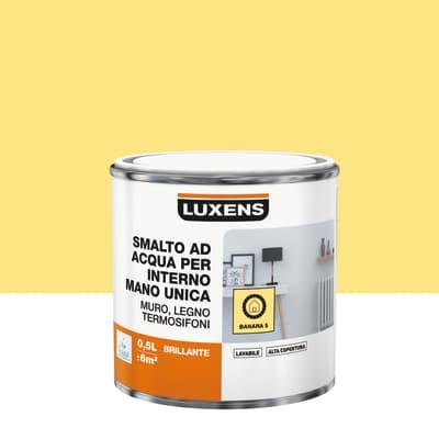 Smalto LUXENS base acqua giallo banana 5 lucido 0.5 L
