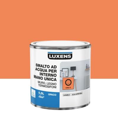 Vernice di finitura LUXENS Manounica base acqua arancio chili 5 opaco 0.5 L