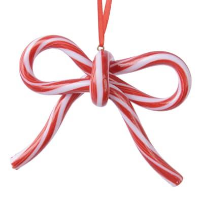 Fiocco bianco e rosso , L 10 cm x P 3.2 cm Ø 10 cm