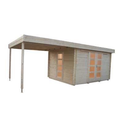 Casetta da giardino in legno Hamburg 22.15 m² spessore 28 mm