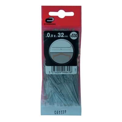 Spillo testa tonda STANDERS grigio / argento 32 x Ø 0.9 mm
