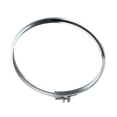 Collare di fissaggio Fascetta di sicurezza  per serie mono parete Dn 200 mm in inox 304 (buona resistenza)