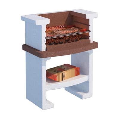 Barbecue in cemento refrattario LINEA VZ L 90 x P 58 x H 115 cm
