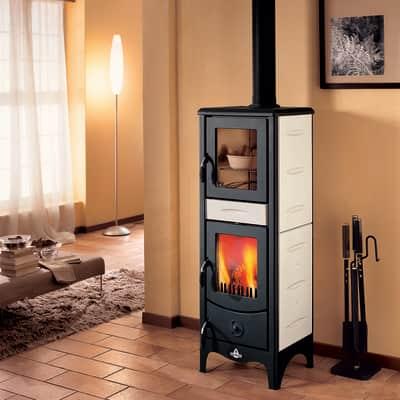 Stufa a legna con forno Milena 6.2 kW sale pepe