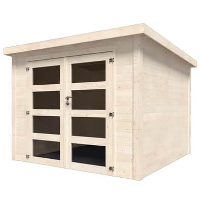 Casetta da giardino in legno Viola,  superficie interna 5.96 m² e spessore parete 28 mm