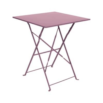 Tavolo Da Esterno Ferro.Tavolo Da Giardino Quadrata Color Con Piano In Ferro L 60 X P 60