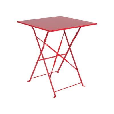 Tavolo da giardino quadrata Color con piano in ferro L 60 x P 60 cm