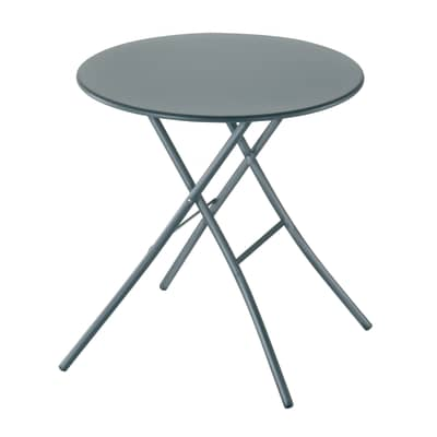 Tavolo da pranzo per giardino rotondo Gaia con piano in acciaio Ø 70 cm