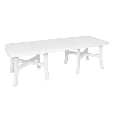 Tavolo da giardino allungabile  rettangolare Trio Plus, 180 x 100 cm con piano in resina L 180 x P 100 cm