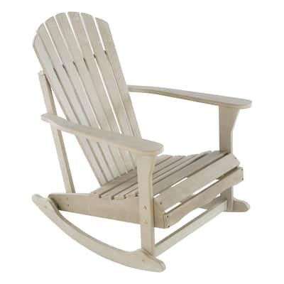 Sedia da giardino senza cuscino in legno Monopoli NATERIAL colore grigio