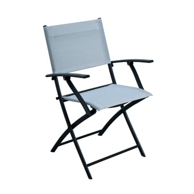 Sedia in acciaio NATERIAL colore bianco
