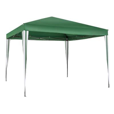 Gazebo acciaio Eori verde L 295 cm x P 300 cm, H 2.6 m
