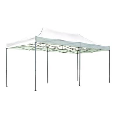 Gazebo in alluminio bianco 600 cm x 3.1 m x 300 cm