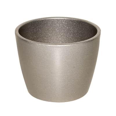 Portavaso Stella in ceramica colore argento H 26.9 cm, Ø 35 cm