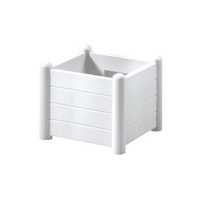 Fioriera Italia STEFANPLAST in plastica colore bianco H 35 cm, L 43 x P 43 cm