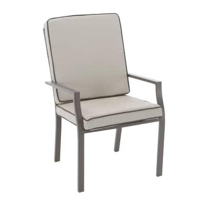 Sedia da giardino con cuscino  in alluminio Roma NATERIAL colore marrone