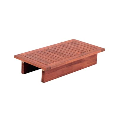 Tavolino da giardino rettangolare Thai in legno L 50 x P 100 cm