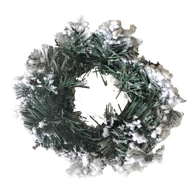 Corona di natale bianco e verde Ø 20 cm