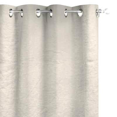 Tenda INSPIRE Lino lavato crema occhielli 140 x 280 cm