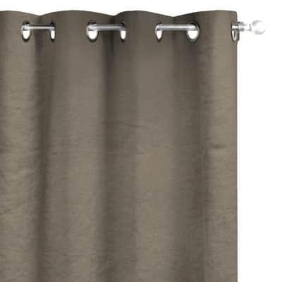 Tenda INSPIRE Lino marrone occhielli 140x280 cm