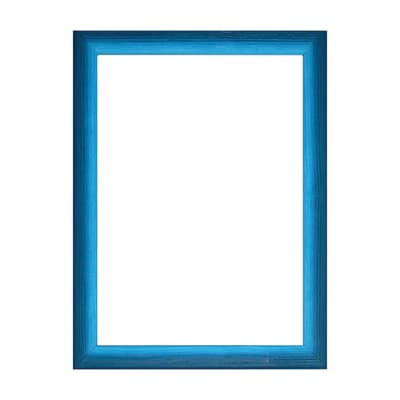 Cornice INSPIRE Bicolor azzurro per foto da 30x45 cm
