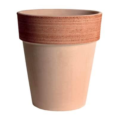 Vaso Alto graffiato in terracotta colore impruneta H 45 cm, Ø 40 cm
