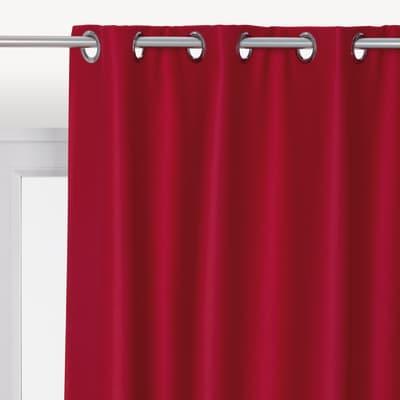Tenda INSPIRE Oscurante rosso anelli 140 x 280 cm
