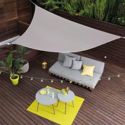 Vela ombreggiante triangolare tortora 360 x 360 cm