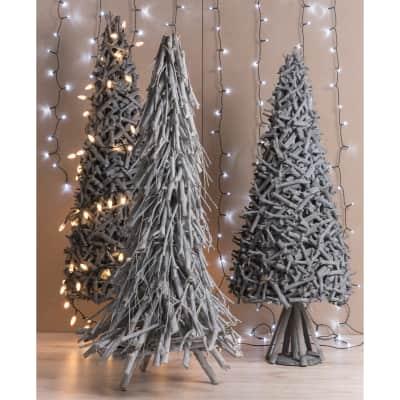 Albero di Natale Salix in legno H 60 cm x P 40 cm  Ø 40 cm