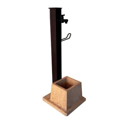 Fontana a colonna Sandox alluminio con vasca in calcestruzzo H 100 cm, 34 x 39 cm