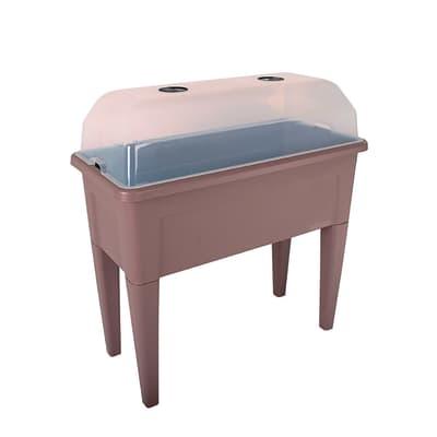 Fioriera per orto alta in polipropilene Venezia marrone L 100 x P 49.5 x H 90.5 cm