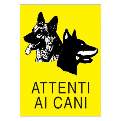 Cartello segnaletico Attenti al cane pvc 25 x 35 cm