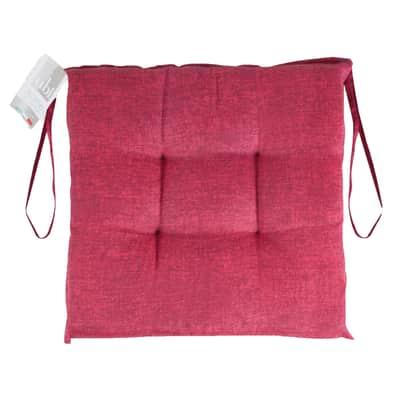 Cuscino per sedia Carlo bordeaux 40x40 cm