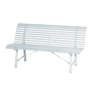 Panca Park in acciaio colore bianco 3