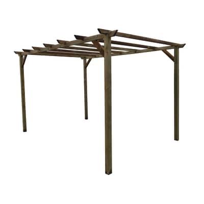 Pergola libera Eco in legno marrone L 300 x P 400 x H 244 cm