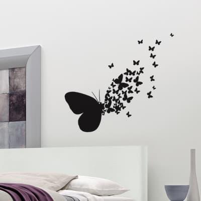 Sticker Butterflies silhouette 31.5x34 cm