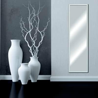 Specchio a parete rettangolare Bomber bianco 34x124 cm