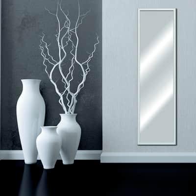 Specchio a parete rettangolare Bomber bianco 44x144 cm