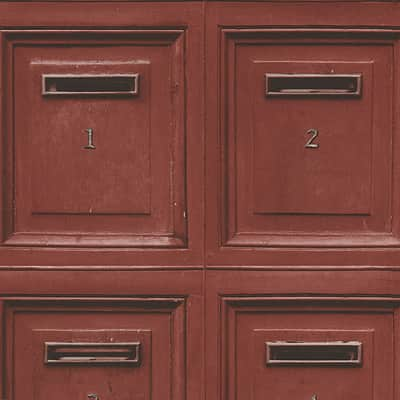 Carta da parati Cassetta postale rosso