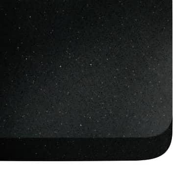 Piano cucina su misura in quarzo Stellar nero  , spessore 2 cm