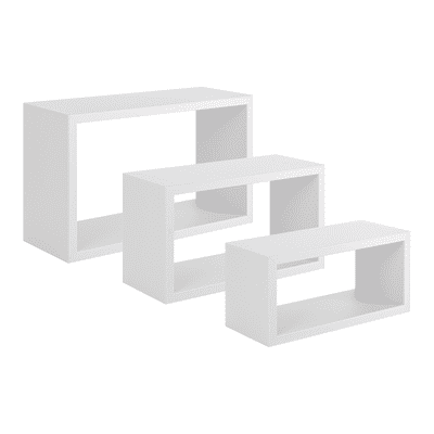 Mensola a cubo Spaceo L 45 x H 27 cm, Sp 15 mm bianco