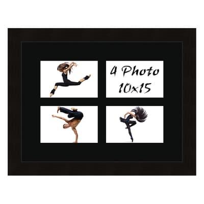 Cornice Maussane per 4 fotografie 10 x 15  nero