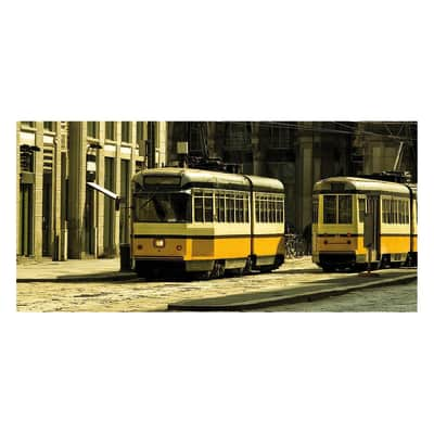 Pannello decorativo Milano old tram 210x100 cm
